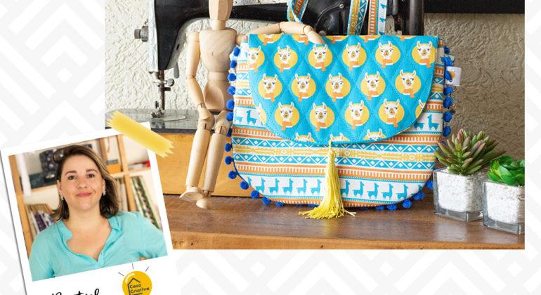 f6829d5ca Bolsa Transversal Lhamas por Beatriz Casa Criativa –  projetosfabricart.com.br